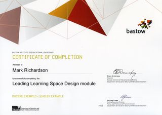 Bastow Certificate 2012